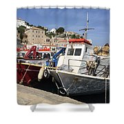 Boats On Hydra Shower Curtain