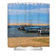 Boats On Silver Lake Michigan Shower Curtain