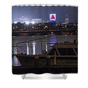 Boats On The Charles River Citgo Sign Boston Massachusetts Shower Curtain
