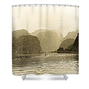 Boats On The River Tam Coc No2 Shower Curtain