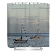 Boats On The Water Shower Curtain