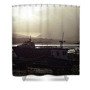 Boats, Portree, Isle Of Skye Shower Curtain