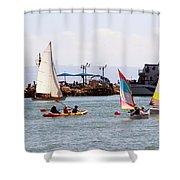 Boats Race Shower Curtain
