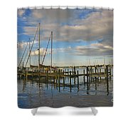 Boatworks 3 Shower Curtain