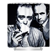 Bob And Mic 2013 Shower Curtain by Luis Ludzska