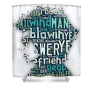 Bob Dylan Blowin In The Wind Shower Curtain