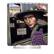 Bob Dylan Surreal Desert Shower Curtain