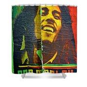 Bob Marley Door At Pickles Usvi Shower Curtain