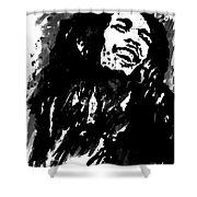 Bob Marley Silhouette   Shower Curtain