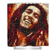 Bob Marley Vegged Out Shower Curtain