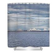 Bob Sikes Bridge Shower Curtain
