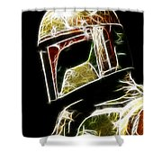 Boba Fett Shower Curtain by Paul Ward