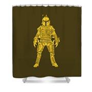 Boba Fett - Star Wars Art, Yellow Shower Curtain