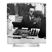 Bobby Fischer (1943-2008) Shower Curtain