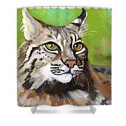Bobcat Katta Shower Curtain