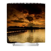 Boblo Dock Shower Curtain