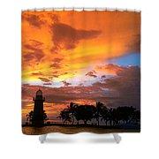 Boca Chita Sunset Shower Curtain