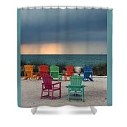 Boca Grande Shower Curtain by Kathy DesJardins