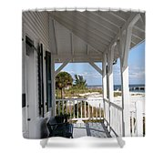 Bocca Grande Lighthouse View Shower Curtain