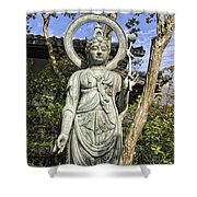 Boddhisattva Buddhist Deity - Kyoto Japan Shower Curtain