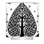 Bodhi Tree_v-7 Shower Curtain