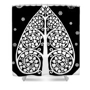 Bodhi Tree_v-8 Shower Curtain