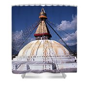 Bodhnath Stupa Shower Curtain