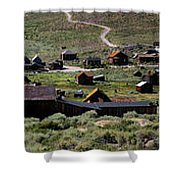 Bodie Ghost Town Panorama Shower Curtain