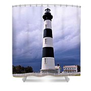 Bodie Island Contrast Shower Curtain