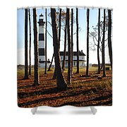 Bodie Island Light Through The Pines Shower Curtain