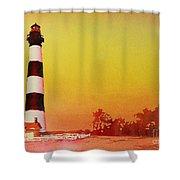 Bodie Island Lighthouse Sunset Shower Curtain
