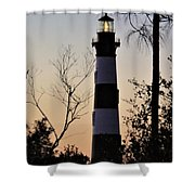 Bodie Island Trees Shower Curtain