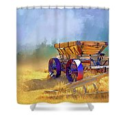 Bodie Ore Wagon Painted Shower Curtain