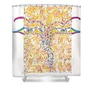 Bodnath Shower Curtain