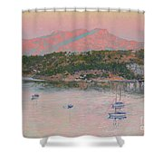Bodrum.pink Sunrise Shower Curtain