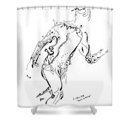 Body In Motion Shower Curtain