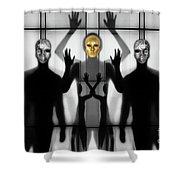 Body Language 64 Shower Curtain