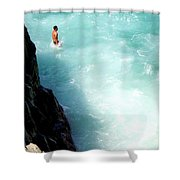 Body Plunge Shower Curtain