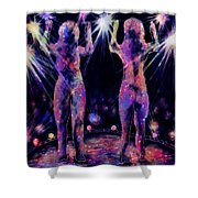 Body Scan Shower Curtain