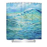 Bodysurfing Rolling Wave Shower Curtain