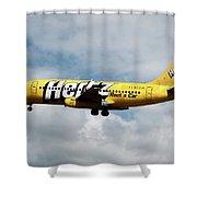 Boeing 737-204 Ryanair Shower Curtain