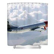 Boeing 737 Norwegian Air Shower Curtain