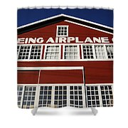 Boeing Airplane Hanger Number One Shower Curtain