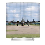Boeing B-17 Flying Fortress Sally B Shower Curtain