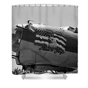 Boeing B-17g Flying Fortress Nose Art Shower Curtain