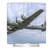 Boeing B-29 Superfortress Fifi In Flight Shower Curtain