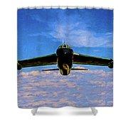 Boeing B-52 Stratofortress Oil Shower Curtain