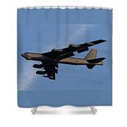 Boeing B-52 Stratofortress Taking Off From Tinker Air Force Base Oklahoma With Double Border Shower Curtain