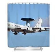 Boeing E-3b 71-1407 Sentry Phoenix Sky Harbor January 9 2015 Shower Curtain