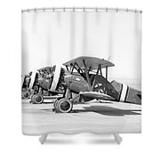 Boeing P-12f4b, 1930s Shower Curtain